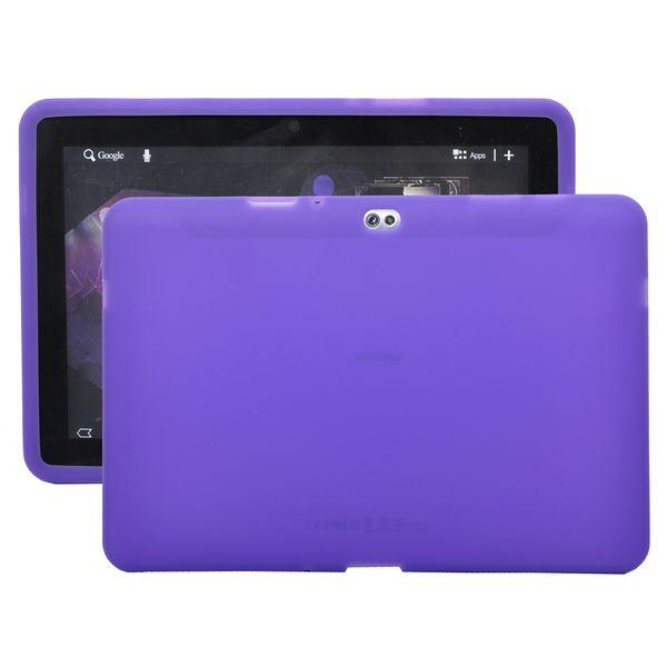 Mjukskal Transparent (Lila) Samsung Galaxy Tab 10.1 Skal (P7500)