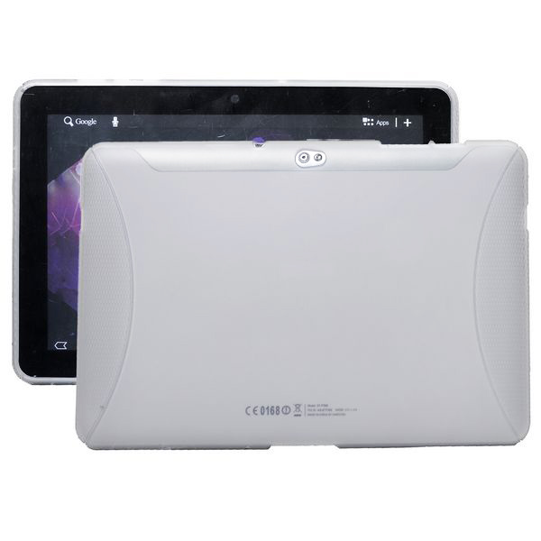 TPU Shell (Vit / Transparent) Samsung Galaxy Tab 10.1 Skal