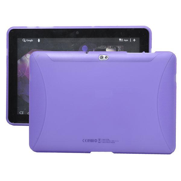 TPU Shell (Lila) Samsung Galaxy Tab 10.1 Skal (P7500)