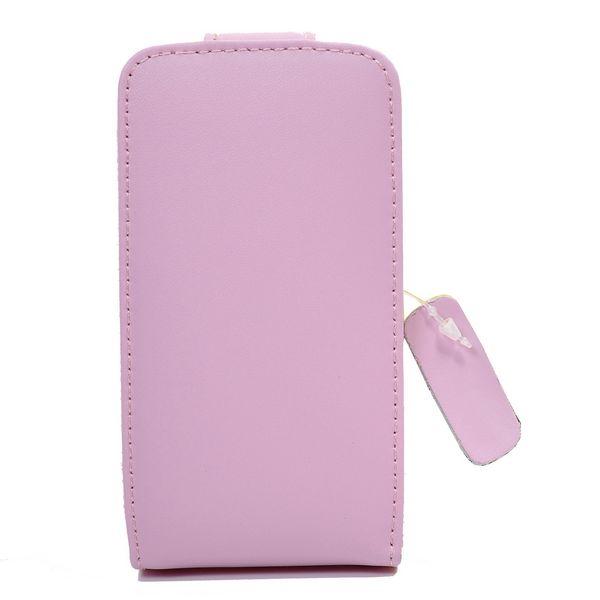 Samsung Galaxy Ace Genuint Läderfodral (Ljusrosa)