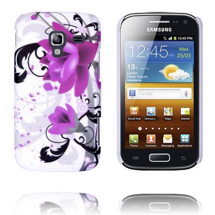 Valentine (Två Lila Blommor) Samsung Galaxy Ace 2 Skal