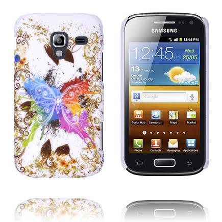 Valentine (Centrerad Regnbågsfjäril – Vit) Samsung Galaxy Ace 2 Skal