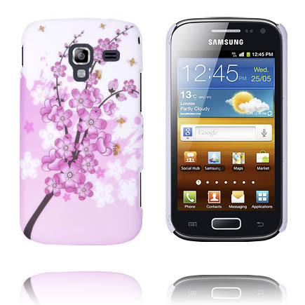 Valentine (Rosa Blommande Gren) Samsung Galaxy Ace 2 Skal