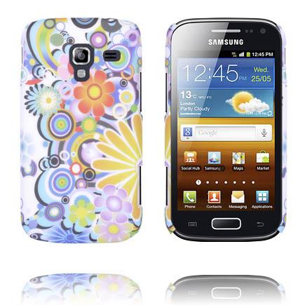Valentine (Blandade Regnbågar & Blommor) Samsung Galaxy Ace 2 Skal