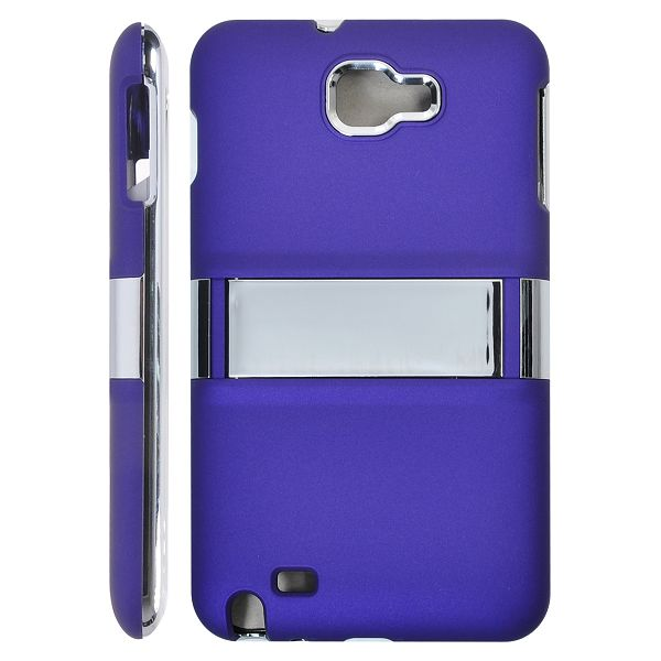 Colors & Chrome Kick-Stand (Lila) Samsung Galaxy Note Skal