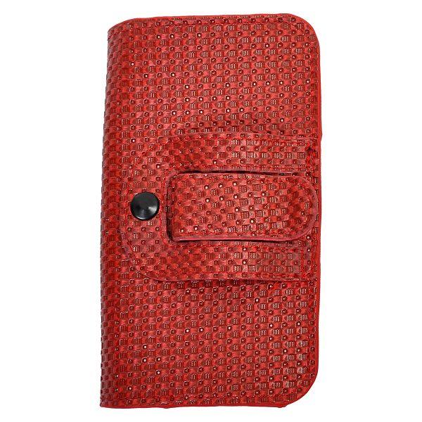 Woven HTC Sensation XL Läderfodral med Bältesklämma (Röd)