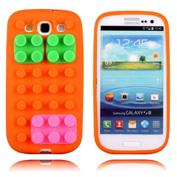 Big Dots (Orange) Samsung Galaxy S3 Silikonskal