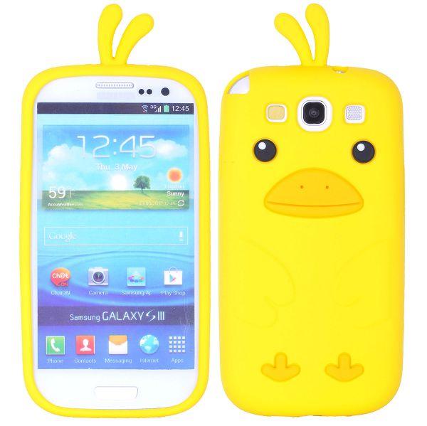 Happy Bird (Gul) Samsung Galaxy S3 Skal