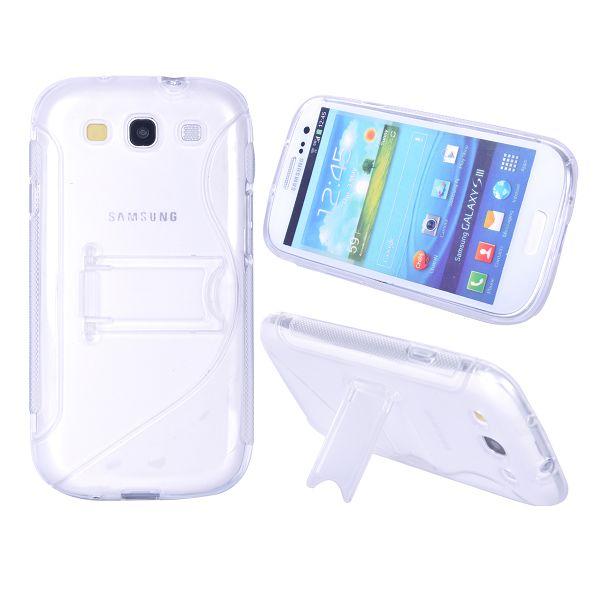 S-Line Transparent Kick-Stand (Klar) Samsung Galaxy S3 Skal