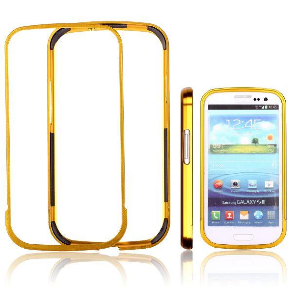 Area 51 Alu-Bumper (Gyllene) Samsung Galaxy S3 Aluminium-Bumper
