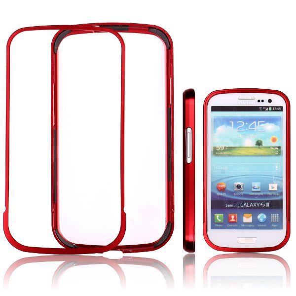 Area 51 Alu-Bumper (Röd) Samsung Galaxy S3 Aluminium-Bumper