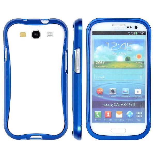 SIII Alu-Bumper (Blå) Samsung Galaxy S3 Aluminium-Bumper