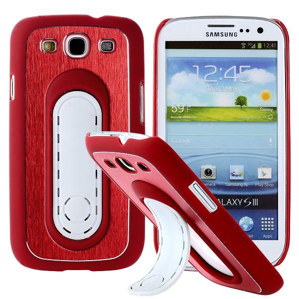 SIII Bend Stativ (Röd) Samsung Galaxy S3 Skal