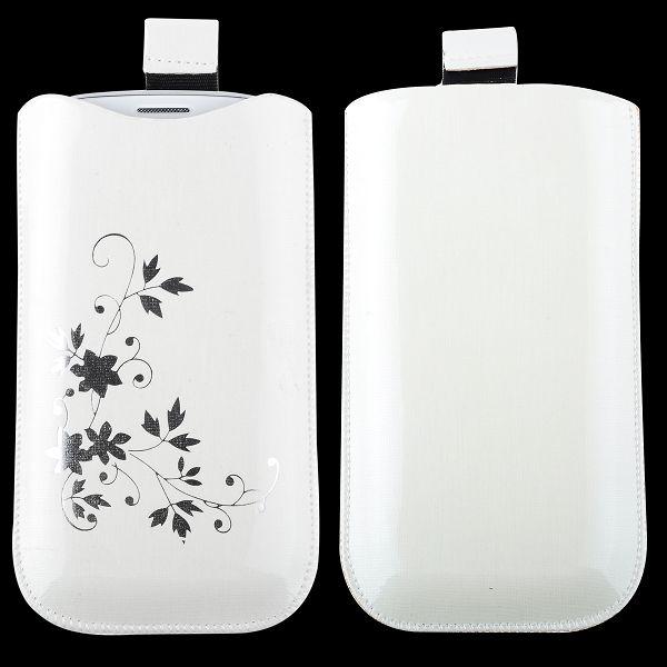 Soft – Blompåse för Samsung Galaxy S3 (Vit)