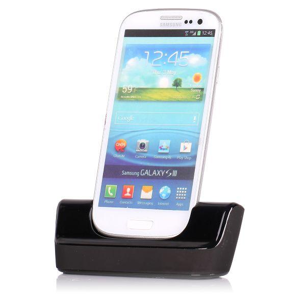 USB Dockningsstation för Samsung Galaxy S3 (Svart)