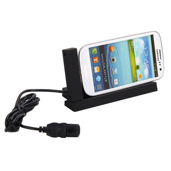 Horizontal Dock för Samsung Galaxy S3 (Svart)