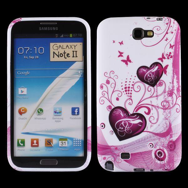 Symphony (Två Lila Hjärtan) Samsung Galaxy Note 2 Skal
