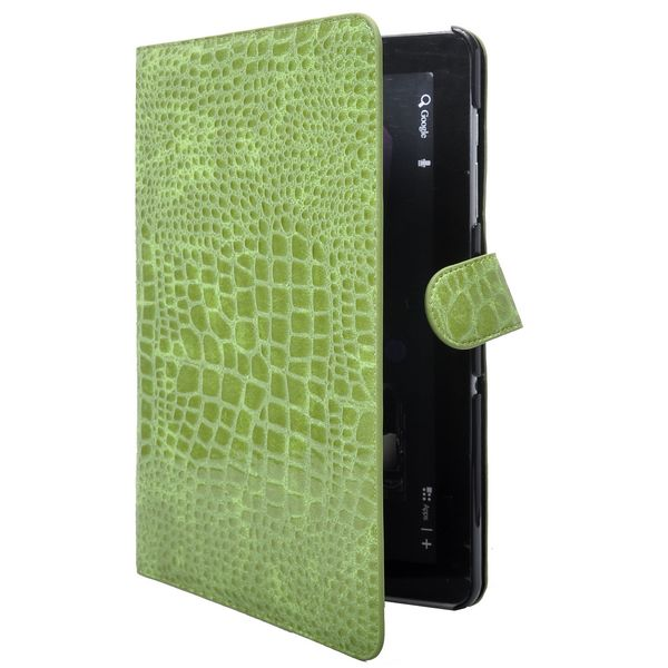 Läderfodral Stand (Grön) för Samsung Galaxy Tab 10.1 P7500