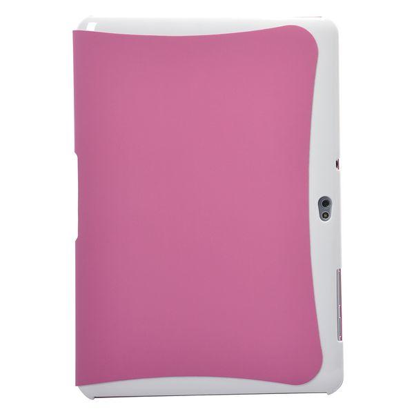 FullCase SmartCover (Rosa) Samsung Galaxy Tab 10.1 Fodral