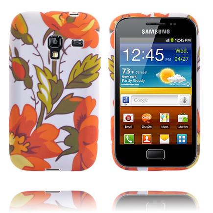 Symphony (Orange Blommor) Samsung Galaxy Ace Plus Skal