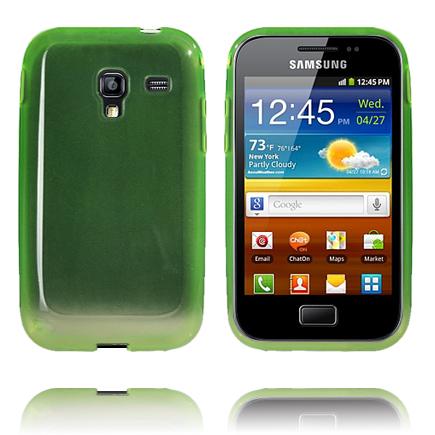 Mjukskal Transparent (Grön) Samsung Galaxy Ace Plus Skal