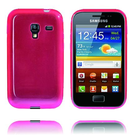 Mjukskal Transparent (Rosa) Samsung Galaxy Ace Plus Skal