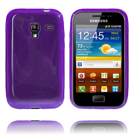 Mjukskal Transparent (Lila) Samsung Galaxy Ace Plus Skal