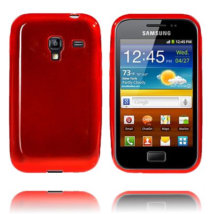 Mjukskal Transparent (Röd) Samsung Galaxy Ace Plus Skal
