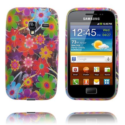 Symphony (Röda & Gröna Blommor) Samsung Galaxy Ace Plus Skal