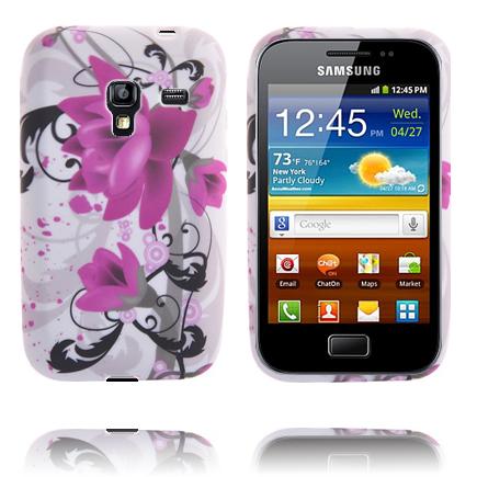 Symphony (Två Lila Blommor) Samsung Galaxy Ace Plus Skal