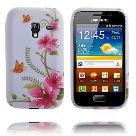 Symphony (5 Rosa Blommor – Orange Fjäril) Samsung Galaxy Ace Plus Skal