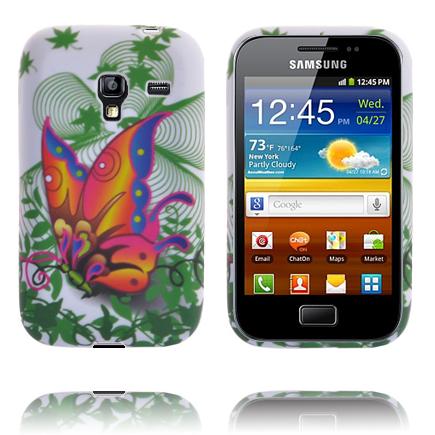 Symphony (Rosa & Gul Fjäril) Samsung Galaxy Ace Plus Skal