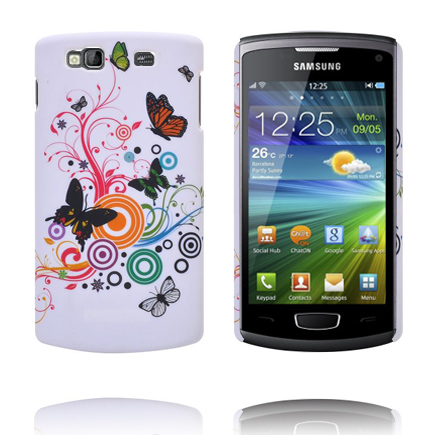 Valentine (Blandade Fjärilar & Cirklar) Samsung Wave 3 Skal