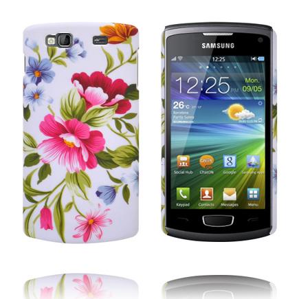Valentine (Två Rosa Blommor) Samsung Wave 3 Skal