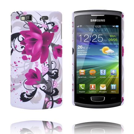 Valentine (Två Lila Blommor) Samsung Wave 3 Skal