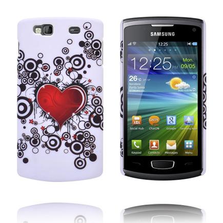 Valentine (Rött Hjärta – Svarta Cirklar) Samsung Wave 3 Skal