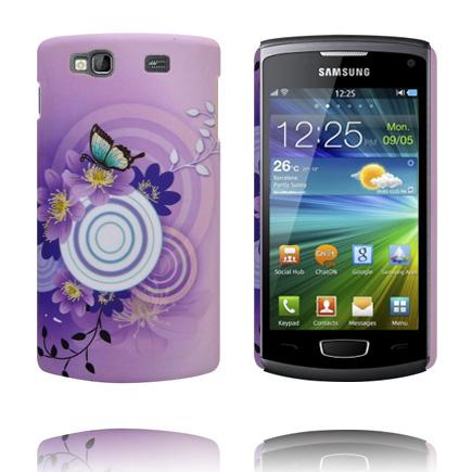 Valentine (Lila Sky – Vit Cirkel) Samsung Wave 3 Skal