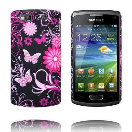 Valentine (Rosa Fjärilar) Samsung Wave 3 Skal