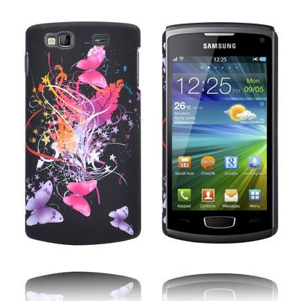Valentine (Svart Sky – Blandade Fjärilar) Samsung Wave 3 Skal