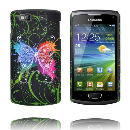 Valentine (Svart Sky – Centrerad Fjäril) Samsung Wave 3 Skal