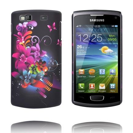 Valentine (Svart Sky – Blandade Blommor) Samsung Wave 3 Skal