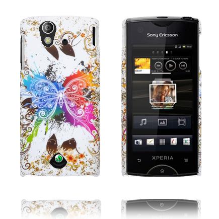 Valentine (Regnbågsfjäril – Blandade Kanter) Sony Ericsson Xperia Ray Skal