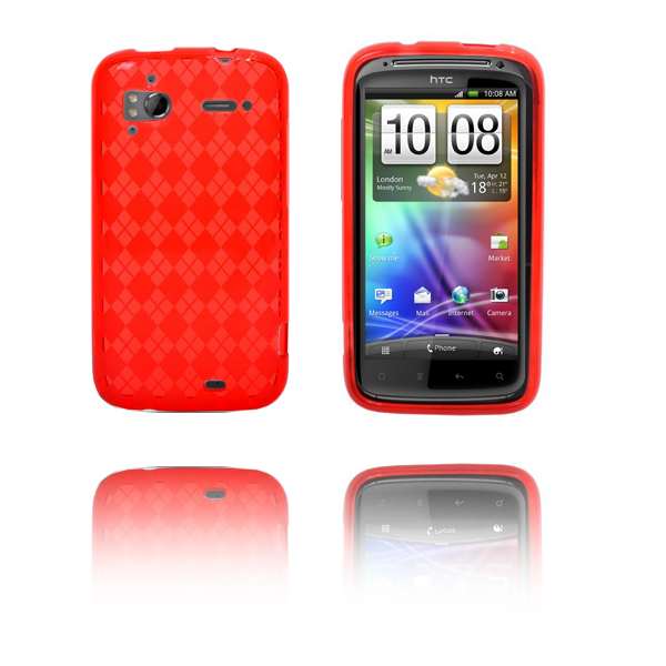 Tuxedo (Röd) HTC Sensation Silikonskal