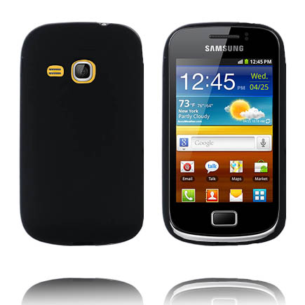 Mjukskal (Svart) Samsung Galaxy Mini 2 Silikonskal