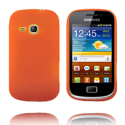 Mjukskal (Orange) Samsung Galaxy Mini 2 Silikonskal