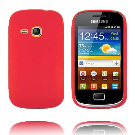 Mjukskal (Röd) Samsung Galaxy Mini 2 Silikonskal