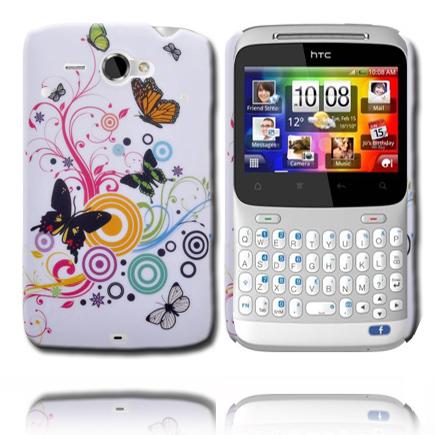 Valentine (Cirklar Mixed Fjäril) HTC ChaCha Skal