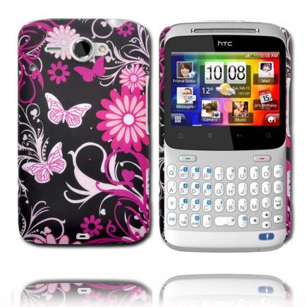 Valentine (Rosa Fjärilar) HTC ChaCha Skal