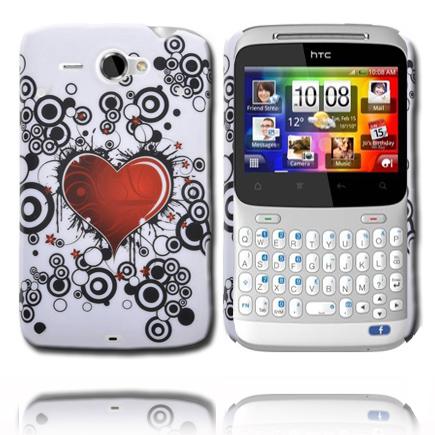 Valentine (Rött Hjärta – Svarta Cirklar) HTC ChaCha Skal