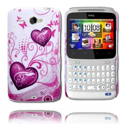 Valentine (Två Lila Hjärtan) HTC ChaCha Skal
